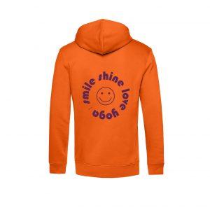 Hoodie- Rücken Orange smile